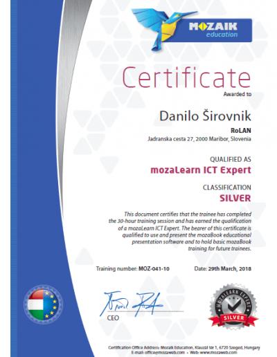 mozaBook_Certificate_Danilo_Sirovnik
