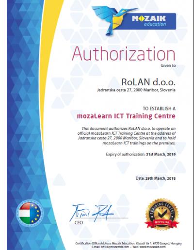 mozaBook_Certificate_RoLAN