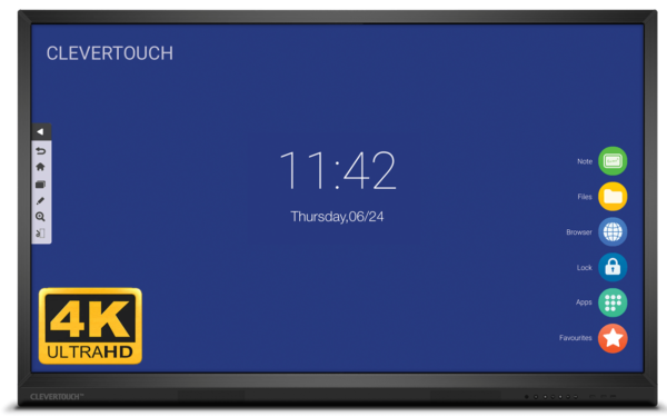 "Clevertouch V-Series 75"" 4K Ultra HD interaktivni zaslon"