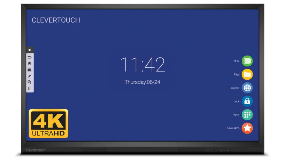 """Clevertouch V-Series 75"""" 4K Ultra HD interaktivni zaslon"""